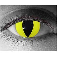 Yellow Cat Contact Lens