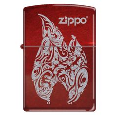 Zippo 'Flame Logo' Candy Apple Red Lighter, 1071 ** See this great image : Safety and Survival Cool Zippos, Zippo Collection, Candy Logo, Lighter Fluid, Candy Apple Red, Pocket Light, Zippo Lighter, Camping And Hiking, Survival