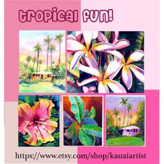 Tropical Fun! by artbymarionette on Polyvore featuring art, etsy, handmade, EtsySpecialT, crazy4etsy and SpecialTweek