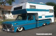 Vintage Trucks Classic Vintage Ford Ranger XLT Camper Special w/ matching Classic Campers, Classic Ford Trucks, Ford Pickup Trucks, Vintage Campers Trailers, Retro Campers, General Motors, Land Rover Defender, Vintage Trucks, Vintage Rv