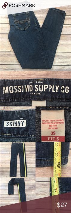 Size 3 Short Mossimo Juniors Denim Skinny Jeans • Measurements are in photos  • Material tag is in photos • Normal wash wear, no flaws • Skinny leg  • Fit 6 • Embroidered Pockets  C1/35  Thank you for shopping my closet! Mossimo Supply Co. Jeans Skinny