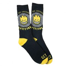 SPITFIRE Sock K.T.U.L black yellow chaussettes de skate 15,00 € #skate #skateboard #skateboarding #streetshop #skateshop @playskateshop