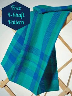 """These """"Simple Twill Towels"""" are a perfect introduction to the 4-shaft loom and the possibilities of twills! Get the pattern as part of this free weaving ebook!"""