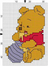 Risultati immagini per schemi punto croce bavaglini ciuccio
