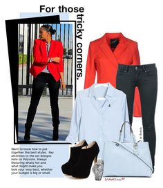 """Street Style - Red Blazer"" by beebeely-look ❤ liked on Polyvore featuring G.SEL, MICHAEL Michael Kors, women's clothing, women's fashion, women, female, woman, misses, juniors and sammydress"