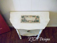 PJH Designs Hand Painted Antique Furniture: Vintage Foyer Table