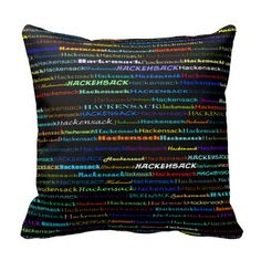 Hackensack Text Design I Throw Pillow