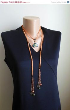 Long  Necklace. Pendant necklace. Lariat. Hand by NMNHANDMADE, $23.20
