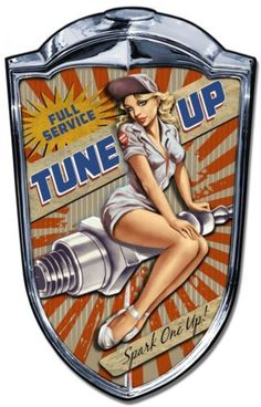 Grill-sign-Spark-one-up-metal-sign-man-cave-garage-gas-station-pin-up-sign
