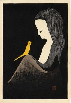 Yellow Canary by KAWANO Kaoru (1916-1965) 河野薫, Japan