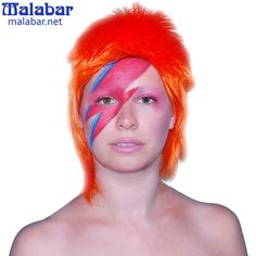 This David Bowie look was done with water-based Mehron Paradise Make-up!