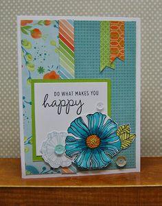 card by Lynn Darda using CTMH Blossom paper
