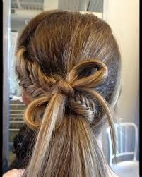 amazing fishtail braid with a bow