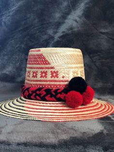 ALL COLORS Wayuu Hat Woven Straw HandCrafted Stylish Pompom Panama Hat Sun   wayuuhat  wayuu fdf2ed00c1a8