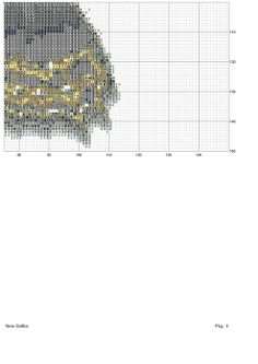 Cross-stitch Black & Gold Butterfly, part 4...  color chart on part 6...
