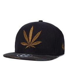548d43dd3e965 Cotton gorras planas snapback dad hats Sun visor Baseball Cap weed flat  eave hip hop hats