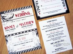 Jacqueline Dziadosz Invitations Design Kinsey Matthew S Old Hollywood Wedding
