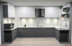 U Shaped Kitchen Interior, U Shaped Kitchen Cabinets, Kitchen Cupboard Designs, Kitchen Room Design, Modern Kitchen Cabinets, Modern Kitchen Design, Interior Design Kitchen, U Shape Kitchen, Moduler Kitchen