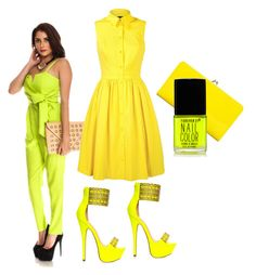"""""""happy yellow"""" by lollicouture ❤ liked on Polyvore"""