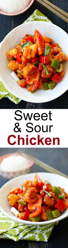 Sweet and sour chicken - easy recipe that calls for chicken, sweet and sour sauce that is better than takeout | rasamalaysia.com