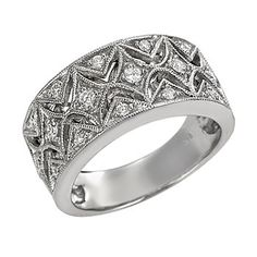124-076 - Porsamo Bleu 14K White Gold 0.38ctw Diamond Band Ring