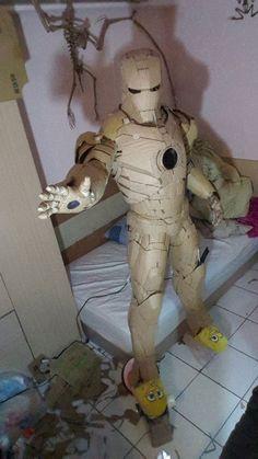 Ironman costume made from cardboard