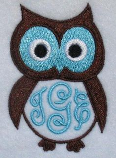 Owl #1 Frame Embroidery Design | Apex Embroidery Designs, Monogram Fonts & Alphabets