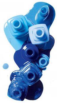 blue spilled nail polish