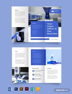 These Cleaning Brochure Templates is good for every company owner. Never underestimate the power of great brochures. They offer a basic history for your business and solution popular issues rapidly, friendly. Company Brochure Design, Brochure Design Layouts, Graphic Design Brochure, Corporate Brochure Design, Book Design Layout, Brochure Template, Design Design, Magazine Ideas, Design Magazine