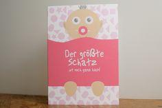 Karte Baby Geburt & Geburtstag Glückwunschkarte von liduno auf DaWanda.com Etsy, Baby Delivery, Glee, Pregnancy, Birthday, Cards