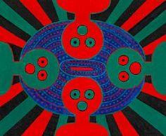 """Albert Mertz: """"De ser på os"""" (They look at us), Menton March 1963. Signed, titled and dated on the reverse. Oil on canvas. 60 x 73 cm. Albert Mertz, b. Copenhagen 1920, d. Slagelse 1990"""
