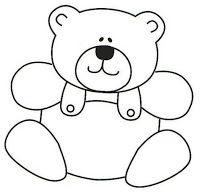 Ursinhos riscos para pintar em tecido