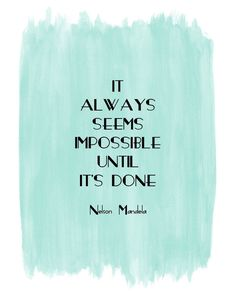 Motivational quote art #inspiration #print #watercolor #blue