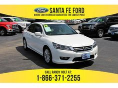 2014 White Honda Accord EX 37275P