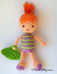 OlinoHobby - Рукодельные затейки: Вязаная куколка (описание) / Crochet doll (instruction)