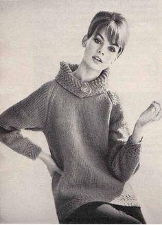 Vintage Vogue 1960s Knit PatternButtoned COWL by GrannyTakesATrip, $3.00