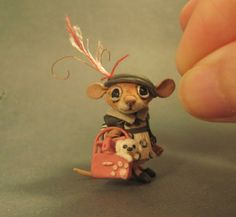 Aleah Klay Studio another tiny mouse- with friend!!