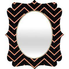 Gabi Glitter Coral Quatrefoil Mirror | DENY Designs Home Accessories