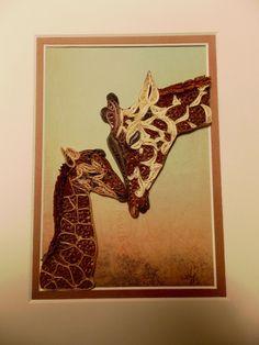 Quilled Giraffe's (Framed 8x10 $125.00)