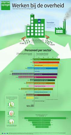 Infographic 'Werken bij de overheid'. Gemaakt door/voor Internetspiegel.