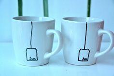 Pekné označenie pohárov.