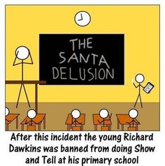 Dawkins destroying delusional beliefs, the early years.  lol