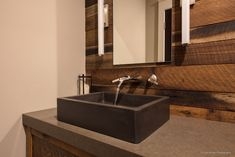 Native Trails NativeStone Nipomo Concrete Vessel Sink Modern Lake HouseAt Lake Lure, NC - August Interiors