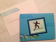 Hang ten--great surfer stamp