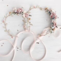 A personal favorite from my Etsy shop https://www.etsy.com/listing/562241432/blush-flower-crown-mommy-and-me-blush