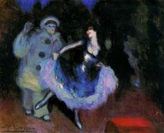 Pierrot and Colombina - Pablo Picasso http://www.wikipaintings.org/en/pablo-picasso/pierrot-and-colombina-1900
