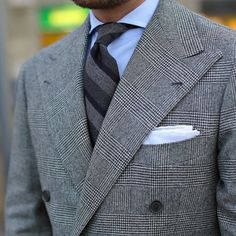 Ivy League Style, Casual Outfits, Men Casual, Suit Shirts, Checked Blazer, Blazers For Men, Sports Jacket, Double Breasted Suit, Street Style