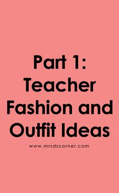 Teacher fashion that is casual, yet professional and perfect for any teacher to wear on a daily basis. Teacher Fashion, Teacher Style, Teaching Tips, Special Education, How To Plan, Blog, Fashion For Teachers, Blogging