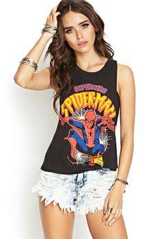Braided Back Spiderman Tank   FOREVER21 - 2000085589