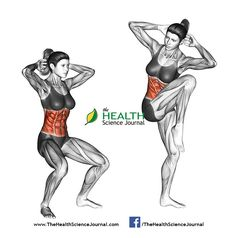 © Sasham | Dreamstime.com - Fitness exercising. Quarter Squat Crunch. Female